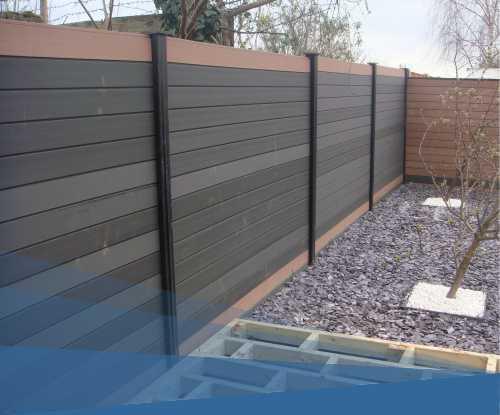 WPC kerítés WPC oszlopokkal